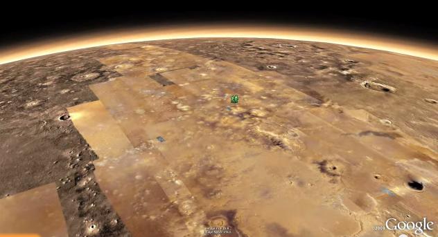 Estereoscopia, Mars in Google Earth e Cosmic View (2/3)
